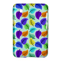 Colorful Leaves Blue Samsung Galaxy Tab 2 (7 ) P3100 Hardshell Case  by vintage2030