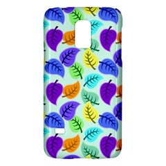 Colorful Leaves Blue Samsung Galaxy S5 Mini Hardshell Case  by vintage2030