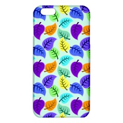Colorful Leaves Blue Iphone 6 Plus/6s Plus Tpu Case by vintage2030