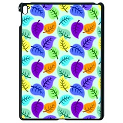 Colorful Leaves Blue Apple Ipad Pro 9 7   Black Seamless Case by vintage2030