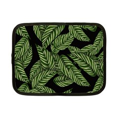 Tropical Leaves On Black Netbook Case (small)