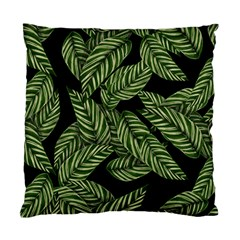 Tropical Leaves On Black Standard Cushion Case (one Side)