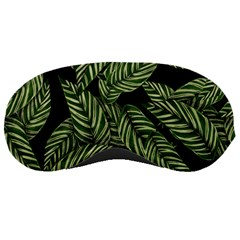 Tropical Leaves On Black Sleeping Masks