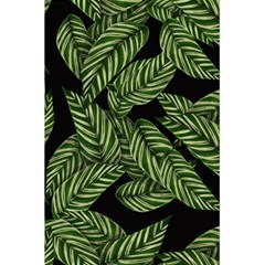 Tropical Leaves On Black 5 5  X 8 5  Notebook