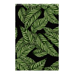 Tropical Leaves On Black Shower Curtain 48  X 72  (small)