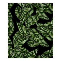Tropical Leaves On Black Shower Curtain 60  X 72  (medium)