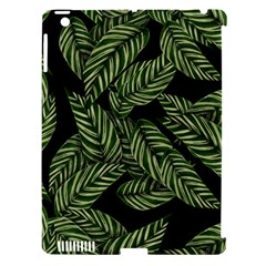 Tropical Leaves On Black Apple Ipad 3/4 Hardshell Case (compatible With Smart Cover)