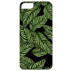 Tropical Leaves On Black Apple Iphone 5 Classic Hardshell Case