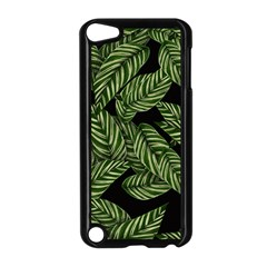 Tropical Leaves On Black Apple Ipod Touch 5 Case (black)