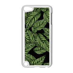 Tropical Leaves On Black Apple Ipod Touch 5 Case (white)