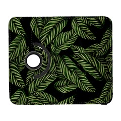 Tropical Leaves On Black Samsung Galaxy S  Iii Flip 360 Case