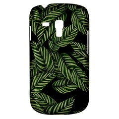 Tropical Leaves On Black Samsung Galaxy S3 Mini I8190 Hardshell Case