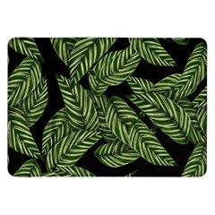 Tropical Leaves On Black Samsung Galaxy Tab 8 9  P7300 Flip Case