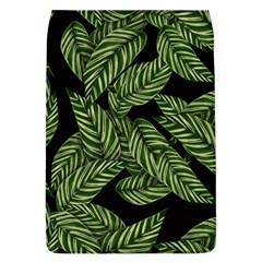 Tropical Leaves On Black Removable Flap Cover (l)