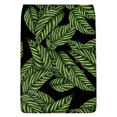 Tropical Leaves On Black Removable Flap Cover (s)