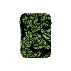 Tropical Leaves On Black Apple Ipad Mini Protective Soft Cases by vintage2030