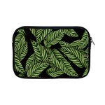 Tropical Leaves On Black Apple iPad Mini Zipper Cases Front