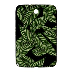 Tropical Leaves On Black Samsung Galaxy Note 8 0 N5100 Hardshell Case