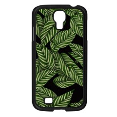 Tropical Leaves On Black Samsung Galaxy S4 I9500/ I9505 Case (black)