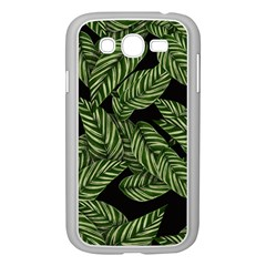 Tropical Leaves On Black Samsung Galaxy Grand Duos I9082 Case (white)