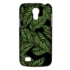 Tropical Leaves On Black Samsung Galaxy S4 Mini (gt I9190) Hardshell Case
