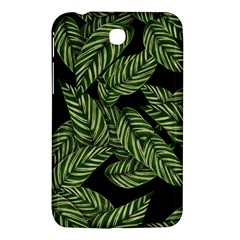 Tropical Leaves On Black Samsung Galaxy Tab 3 (7 ) P3200 Hardshell Case