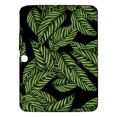 Tropical Leaves On Black Samsung Galaxy Tab 3 (10 1 ) P5200 Hardshell Case