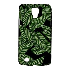 Tropical Leaves On Black Samsung Galaxy S4 Active (i9295) Hardshell Case