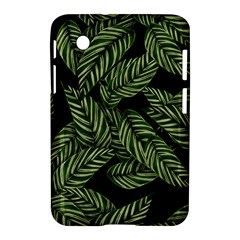 Tropical Leaves On Black Samsung Galaxy Tab 2 (7 ) P3100 Hardshell Case