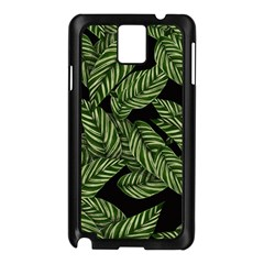 Tropical Leaves On Black Samsung Galaxy Note 3 N9005 Case (black)