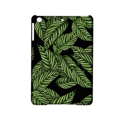 Tropical Leaves On Black Ipad Mini 2 Hardshell Cases