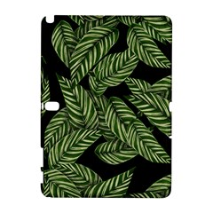 Tropical Leaves On Black Samsung Galaxy Note 10 1 (p600) Hardshell Case