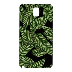 Tropical Leaves On Black Samsung Galaxy Note 3 N9005 Hardshell Back Case