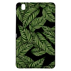 Tropical Leaves On Black Samsung Galaxy Tab Pro 8 4 Hardshell Case