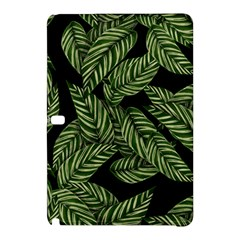 Tropical Leaves On Black Samsung Galaxy Tab Pro 12 2 Hardshell Case
