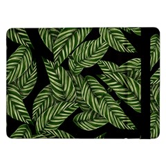 Tropical Leaves On Black Samsung Galaxy Tab Pro 12 2  Flip Case