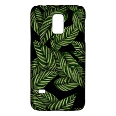 Tropical Leaves On Black Samsung Galaxy S5 Mini Hardshell Case  by vintage2030