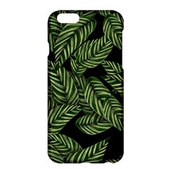Tropical Leaves On Black Apple Iphone 6 Plus/6s Plus Hardshell Case by vintage2030