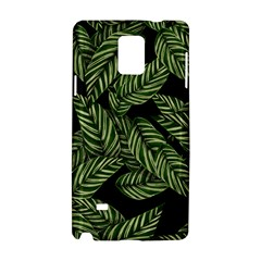Tropical Leaves On Black Samsung Galaxy Note 4 Hardshell Case