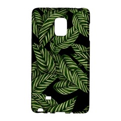 Tropical Leaves On Black Samsung Galaxy Note Edge Hardshell Case