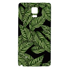 Tropical Leaves On Black Samsung Note 4 Hardshell Back Case