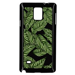 Tropical Leaves On Black Samsung Galaxy Note 4 Case (black)