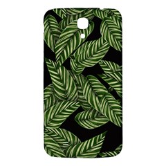 Tropical Leaves On Black Samsung Galaxy Mega I9200 Hardshell Back Case