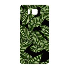 Tropical Leaves On Black Samsung Galaxy Alpha Hardshell Back Case