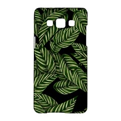 Tropical Leaves On Black Samsung Galaxy A5 Hardshell Case