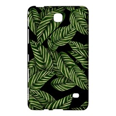 Tropical Leaves On Black Samsung Galaxy Tab 4 (8 ) Hardshell Case
