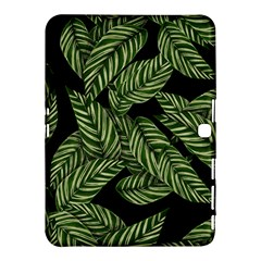 Tropical Leaves On Black Samsung Galaxy Tab 4 (10 1 ) Hardshell Case