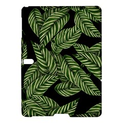 Tropical Leaves On Black Samsung Galaxy Tab S (10 5 ) Hardshell Case