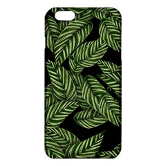 Tropical Leaves On Black Iphone 6 Plus/6s Plus Tpu Case
