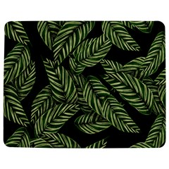 Tropical Leaves On Black Jigsaw Puzzle Photo Stand (rectangular)